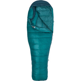 Marmot Angel Fire Sacos de dormir Largo Mujer, malachite/deep teal